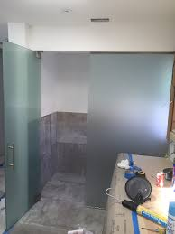 frosted bathroom divider patriot glass and mirror san diego ca