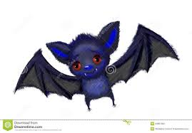 cute cartoon of a bat flying stock illustration image 43661053