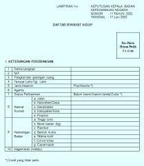 form daftar riwayat hidup pdf download formulir daftar riwayat hidup pns cpns guru dan kepala