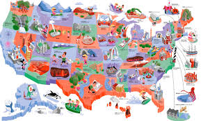 Show Map Of Usa by Download Travel Map Usa Major Tourist Attractions Maps