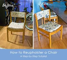 Reupholster Armchair Diy How To Reupholster A Chair Step By Step Photo Tutorial