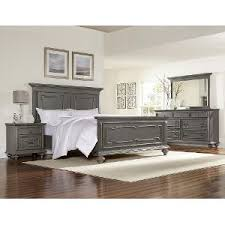 Gray Piece King Bedroom Set Asher Lane RC Willey Furniture Store - Rc willey black bedroom set