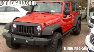 customized 2 door jeep wranglers 2014 jeep wrangler unlimited sport red customized by landry auto