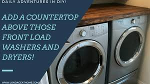 Countertop Clothes Dryer Laundry Room Countertop Above Those Front Load Washer And Dryers