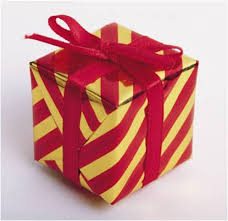 gift wrapped box in and gold the equation