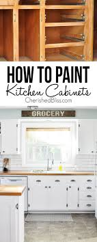 painting kitchen cabinets from wood to white tips on how to paint kitchen cabinets cherished bliss