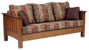 Amish Mount Hope Mission Sofa Wood Living Rooms Living Room - Wooden living room chairs