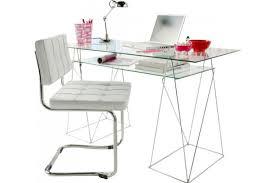 bureaux en verre bureau verre pas cher grand bureau blanc lepolyglotte