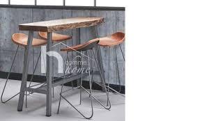 cuisine bois et metal table haute bois metal beautiful amazing table cuisine haute but