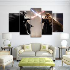 Living Room Paintings Online Buy Wholesale Star Wars Canvas Art From China Star Wars