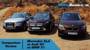 compare bmw x3 and audi q3 mercedes gla vs audi q3 vs bmw x1 comparison review motorbeam