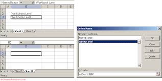 excel named ranges name conflict dialog box