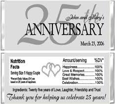 25 year anniversary ideas anniversary candy wrapper any year background color can be