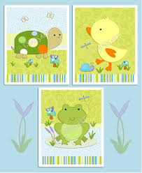 Frog Nursery Decor M2m Tiddliwinks In The Pond Nursery Decor Set Of 3 By Chadsart