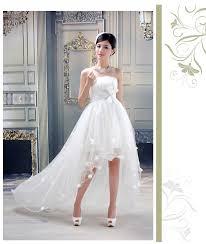 wedding dress pendek flower wedding dress fish front with