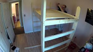 building my daughter u0027s loft bed time lapse video youtube
