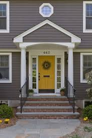 what are the best paint colours for a front door yellow doors