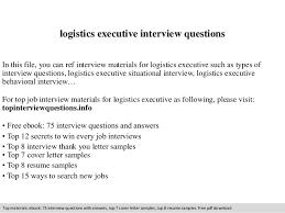 Sample Resume Logistics by Resume Sample Logistics Executive