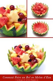 technique de cuisine 1 sculpture de fruit et légume comment réaliser un bol en melon d
