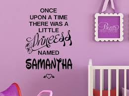 princess decal once upon a time personalized name wall art vinyl princess decal once upon a time personalized name wall art vinyl sticker walt disney font custom nursery bedroom girl decor