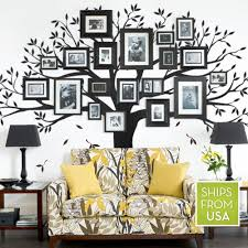 amazon com family tree wall decal black standard size 107 amazon com family tree wall decal black standard size 107