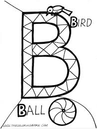 alphabet b coloring pages for kidsfree coloring pages for kids