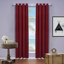Living Room Curtains Modern Solid Color Flat Window Curtains Sheer Blackout Curtains Living