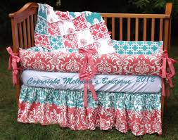 Boutique Crib Bedding Custom Boutique Coral And Turquoise Palette Baby Nursery