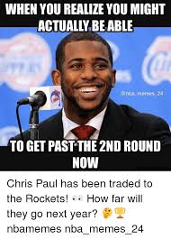 Chris Paul Memes - when you realize you might actually beable memes 24 to get pastthe