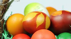 spinning easter egg basket background stock video footage