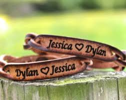 his and hers engraved bracelets his and bracelet etsy