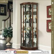 curio cabinet shop pulaski golden oak ii corner curio cabinet at