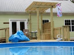 ground pool deck u2013 home and furnitures