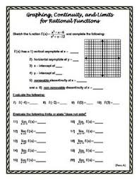 rational functions and limits worksheet on limits u0026 continuity