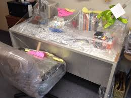 Office Desk Prank Saran Wrapped Desk And Chair Office Prank Pranks Pinterest