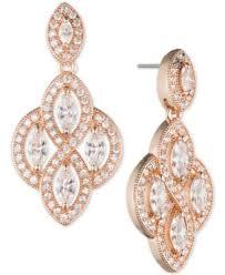 Rose Gold Chandelier Earrings Anne Klein Gold Tone Crystal Chandelier Earrings Fashion Jewelry