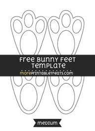 easter bunny paw print pattern use the printable outline for