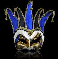 jester masquerade mask joker masquerade mask mezzo velluto black blue masquerade