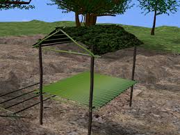 How To Build A Tent by How To Build A Natural Shelter In The Jungle With Pictures