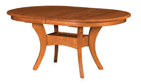 double pedestal dining table with leaf amish wood dining table