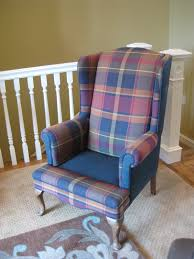 Blue Wingback Chair Design Ideas Furniture Wonderful Wingback Chair Slipcover For More Beautiful
