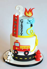 firetruck birthday cake on cake central hudson pinterest
