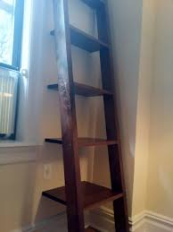 Industrial Bookcase With Ladder by Hand Made Ladder Shelves Leaning Bookshelf By K Smith Custom