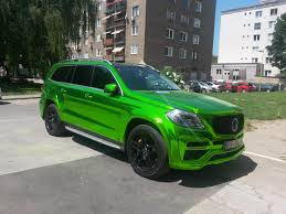 chrome wrapped cars lime green chrome wrap on mercedes g shitty car mods