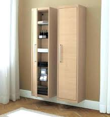 tall narrow storage cabinet brown wall color with floating tall narrow storage cabinet using