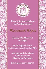 confirmation invitation personalised confirmation invitations design 3