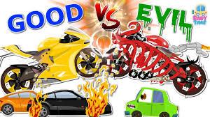 super bike war good vs evil scary street vehicles halloween