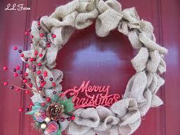 burlap christmas wreath ll farm burlap christmas wreath