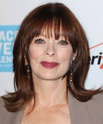 suzanne somers haircut how to cut frances fisher medium straight casual hairstyle with blunt cut