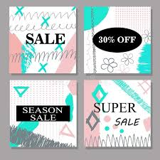 set of creative sale discount headers banners cards